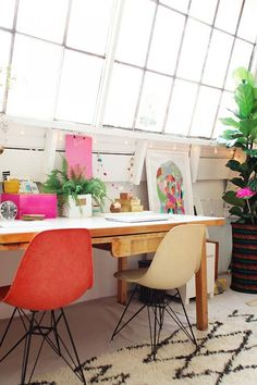 colorful eames chairs #interior design #decoration #decor #deco