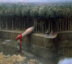Dreamlike Surreal Paintings by Mike Worrall