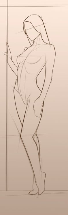 Melisa Bangla sketch #pose #woman #girl #nude #sketch #proportion #illustration #art #standing #drawing #life