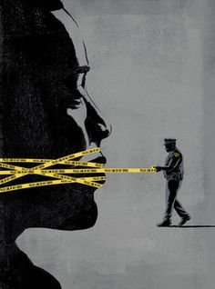 CLEVELAND MAGAZINEIllustration for Cleveland Magazine about the lack of communication between residents and police.