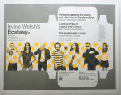 Creative Review - The (unabridged) Ecstasy poster story #ecstacy #welsh #packaing #poster #overprint #modernist #irvine #metallic