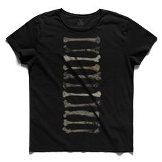 #bones #black #tee #tshirt #bobettinger #bone #evolution #darwin