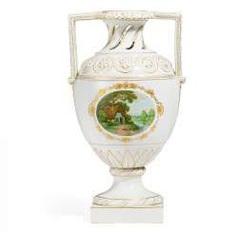 Vase with an idyllic landscape. KPM-Berlin. #Sets #Teasets #Porcelainsets #Antiqueplates #Plates #Wallplates #Figures #Porcelainfigurines #porcelain