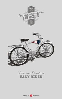 I never wanted to be anybody else. #easy #phantom #vintage #poster #rider #schwinn