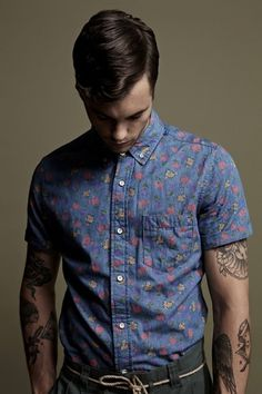 The Colour of Love | slyapartment #colourful #photography #tattoos #fashion #guy
