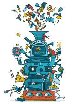 Waitrose Weekend - Illustration by Allan Deas www.allandeas.com