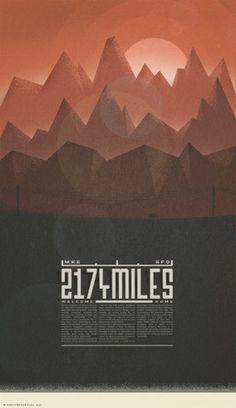 Dribbble - mountains.png by Christopher Paul #retro #screen #printing #poster #christopher #paul