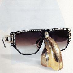 H O O D #vintage #fashion #sunglasses #80s #bling #hiphop #shades #stunna shades #rap
