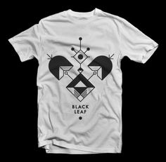 Black Leaf — Black Leaf X Zondag #stamp #shapes #glyph #shirt #illustration #tee #type #squares