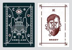 Homeland Season One playing cards - www.lucasjubb.co.uk
