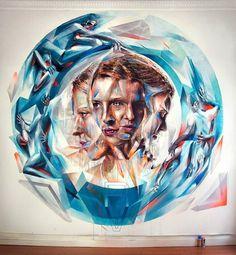 Mural by Vesod Brero #illustration #color #art