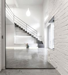Steel staircase. Anjos Loft by João Tiago Aguiar, arquitectos. #staircase #industrial #minimal