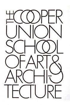 Cooper Union School of Arts & Architecture #herb #lubalin #logo #type #typography