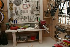 TinyGarage Interior 2.jpg #workshop #bike #miniature #art