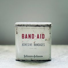 Old Band Aid packaging #vintage #packaging #simple #old #tin #band aid