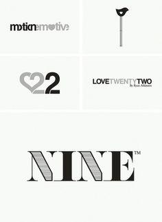 Logos / Marks / Type on the Behance Network #mark #nine #design #identity #logo