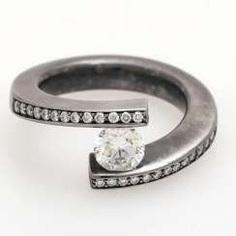 Platinum ring with diamonds,