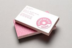 Maythorpe. » Donut Beach Music #offset #business #pink #card #print #donut