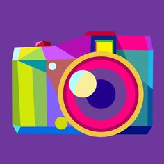 Flickr's Bright New Geometric Avatars mashKULTURE #charis #vector #camera #flickr #tsevis #colour #avatar