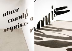 Typographic Installations on Behance