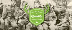 Scout Dry Goods #antlers #logo #boy #scouts