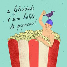Hapiness is... on Behance #illustration #calendar #popcorn #hapiness