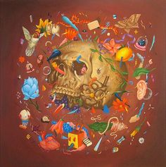 Eerie & Surreal Paintings by Saddo | Art Sponge #skull #saddo #painting