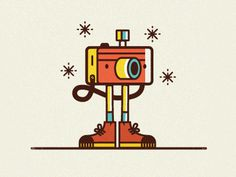 Illo2 #camera #vector #character #shoes #line art