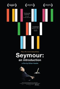 Extra Large Movie Poster Image for Seymour: An Introduction #movie #seymour #hawke #bars #colors #poster #ethan
