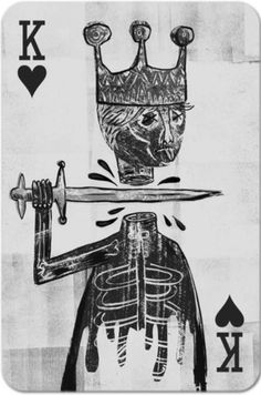 Marcus Russell Price #card #of #head #playing #sword #hearts #king