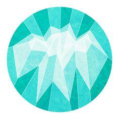Blue Mountain Art Print #triangle