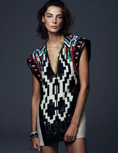 Daria Werbowy by Steven Pan for Vogue Ukraine #fashion #photography