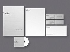 Dribbble - Delfex stationery by Jan Zabransky #loo #branding #design #graphic #corporate #identity #stationery