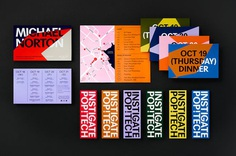 Graphic identity and design for print by Collins for annual conference PopTech