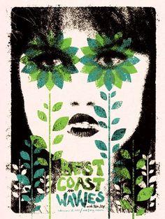 doe-eyed | posters #gigposter #design #screenprint #poster