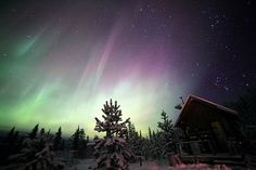Small Cabin, Big Universe | Flickr - Photo Sharing! #activity #sky #lights #night #cartier #auroral #observations #david