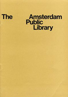 Wim Crouwel Amsterdam Public Library