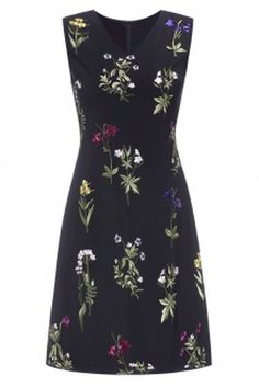 Dezzal KEVIN&ZHEN Plant Embroidered A Line Dress