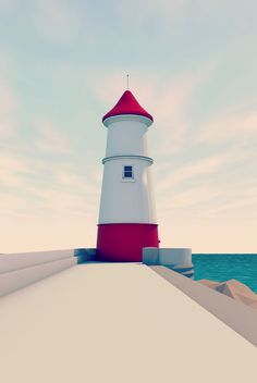 LIghthouse #lowpoly #c4d #3d