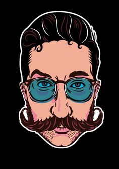 Justin Poulter #illustration #character #november #moustache