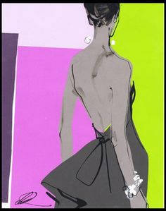 downton | Tumblr #fashion #illustration #david #downton