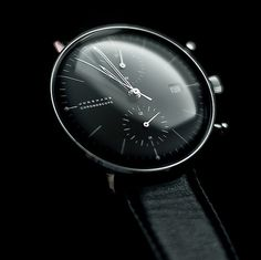 Junghans Max Bill Chronoscope #max #modern #bill #black #watch