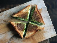 Green Goddess Grilled Cheese Sandwich #food