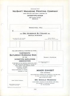 Specimen of Intertype engraver fonts #type #specimen