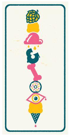 Ice Cream Poster. #mysterymeat #poster #icecream #illustration