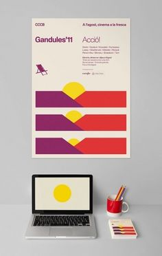 All sizes | Gandules'11 | CCCB | Flickr - Photo Sharing! #flat #campaign #color #direction #art #poster