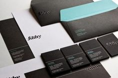 Inspiring Corporate Identity and Stationery The... | WE AND THE COLOR - A Blog for Graphic Design and Art Inspiration #business #card #black #corporate #identity #envelope #paper