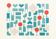 Beautiful Herman Miller illustrations by Gavin Potenza #herman miller #illustration