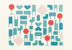 Beautiful Herman Miller illustrations by Gavin Potenza #miller #herman #illustration