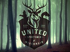 United Sportsmen of Wisconsin by Mauricio Cremer #logo #deer